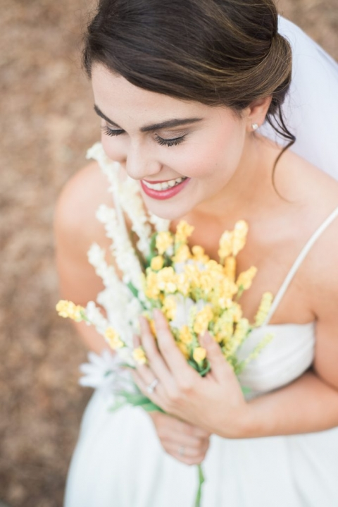 Bride laughing during bridal portraits