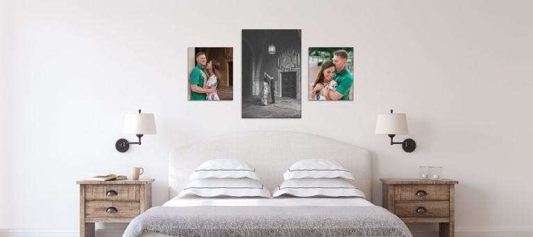 How To Display Engagement Photos at Home in the bedroom