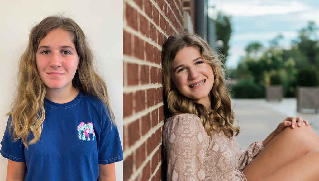 Tween Photography Session Before and After